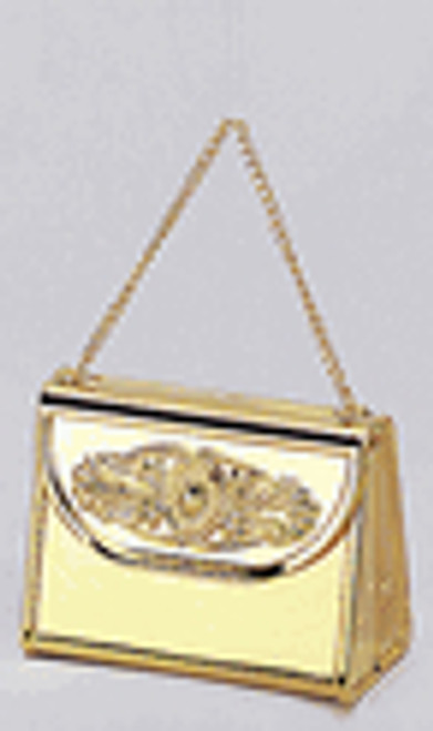 "2 3/4"" Gold Mini Purse Gift Favor Box with Handle - Pack of 72 Count"