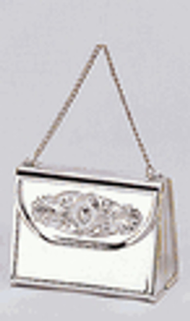 "2 3/4"" Silver Mini Purse Gift Favor Box with Handle - Pack of 72 Count"
