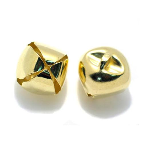 """3/4"""" Gold Metal Jingle Bells - Pack of 100"""