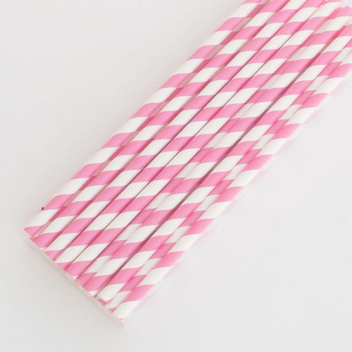 Fuchsia Pretty Paper Straws - Pack of 200