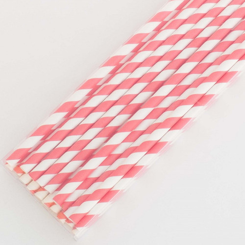 Red Pretty Paper Straws - Pack of 200