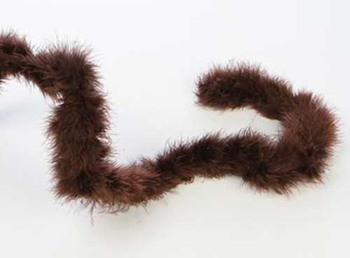 "1.5"" Wide 72"" (6 Feet) Long Dark Brown Marabou Feather Boas - Pack of 10"
