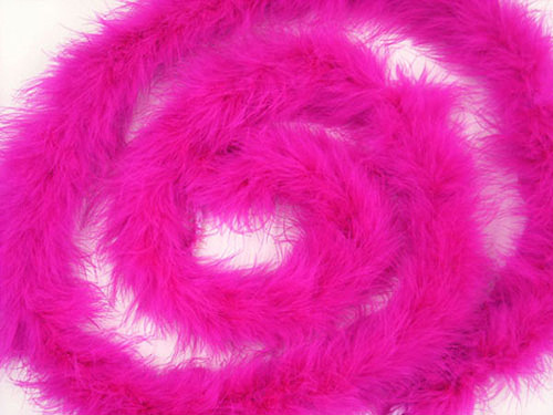 "1.5"" Wide 72"" (6 Feet) Long Fuchsia Marabou Feather Boas - Pack of 10"