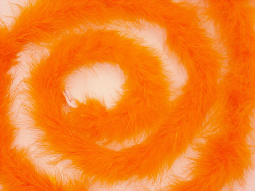 "1.5"" Wide 72"" (6 Feet) Long Orange Marabou Feather Boas - Pack of 10"