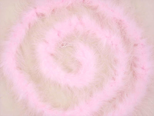 "1.5"" Wide 72"" (6 Feet) Long Pink Marabou Feather Boas - Pack of 10"