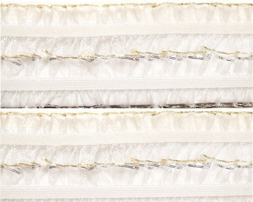 "1"" x 20 Yards White Organza Stretch Lace Trim - 5 Packs Organza Trim"