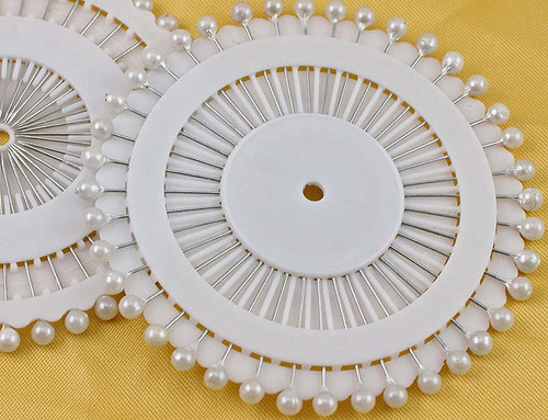 "1.5"" White Pearl Head Corsage Pin - Pack of 1440 Boutonniere Pins"