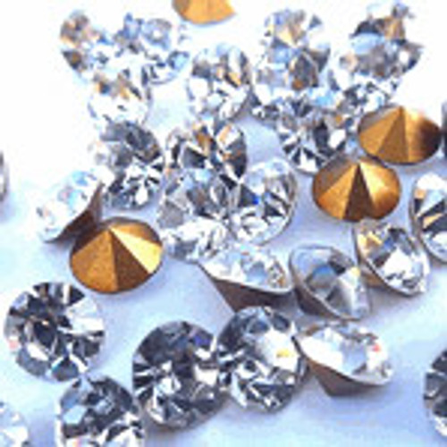 SS8 2.4 mm Round Clear Loose Rhinestones - Pack of 1440 Loose Rhinestones