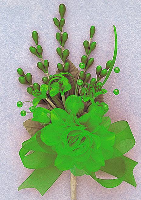 "7"" Apple Green Bridal Corsage Silk Spray Flowers - Pack of 12"