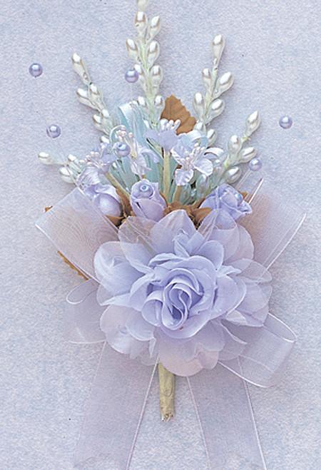 "7"" Light Blue Bridal Corsage Silk Spray Flowers - Pack of 12"
