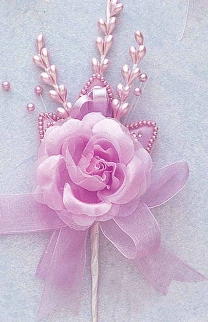"7"" Lavender Rose Corsage Silk Spray Flowers - Pack of 12"