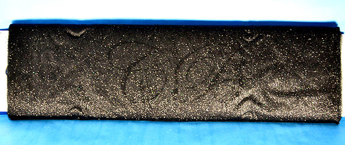 "54""x15 yards (45FT) Black Glitter Tulle Bolt"