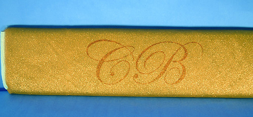 "54""x10 yards (30FT) Gold Glitter Tulle Bolt"