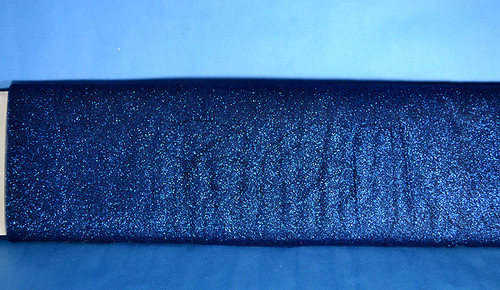 "54""x10 yards (30FT) Navy Blue Glitter Tulle Bolt"