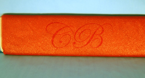 "54""x10 yards (30FT) Orange Glitter Tulle Bolt"