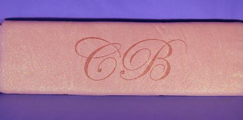 """54""""x15 yards (45FT) Light Pink Glitter Tulle Bolt"""