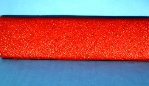 "54""x15 yards (45FT) Red Glitter Tulle Bolt"