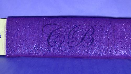 "54""x15 yards (45FT) Purple Glitter Tulle Bolt"