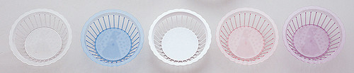 "9"" Diameter Plastic Serving Baskets with Mis Quince Anos Design - Pack of 48 Pieces"