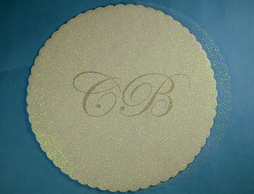 "9"" Diameter Ivory Fabric Wedding Glitter Tulle Circles - Pack of 240"