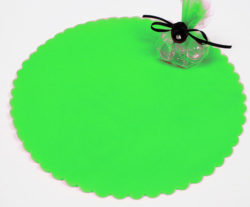 "9"" Diameter Apple Green Wedding Tulle Circle - Pack of 600"