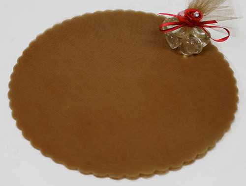 "9"" Diameter Brown Wedding Tulle Circle - Pack of 600"