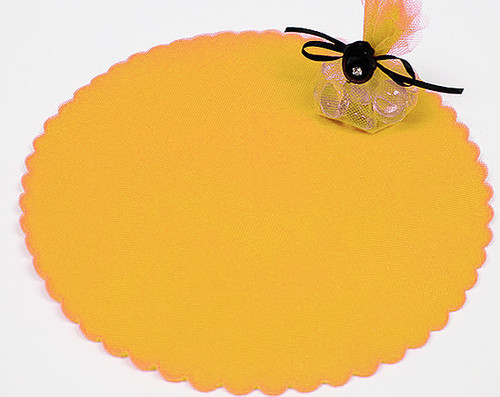 "9"" Diameter Dark Yellow Wedding Tulle Circle - Pack of 600"
