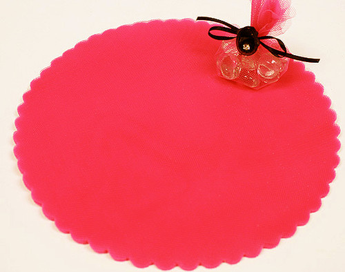 "9"" Diameter Coral Wedding Tulle Circle - Pack of 600"