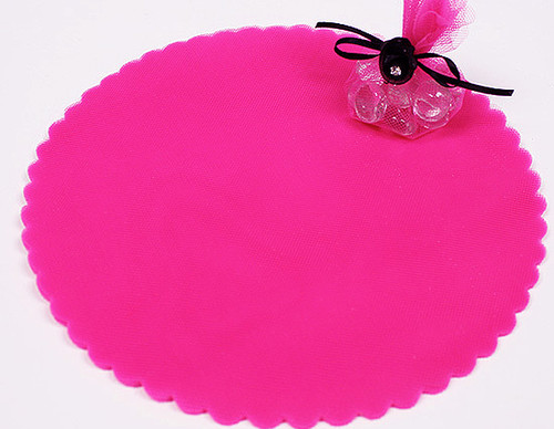 "9"" Diameter Fuchsia Wedding Tulle Circle - Pack of 600"