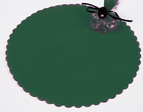 "9"" Diameter Hunter Green Wedding Tulle Circle - Pack of 600"