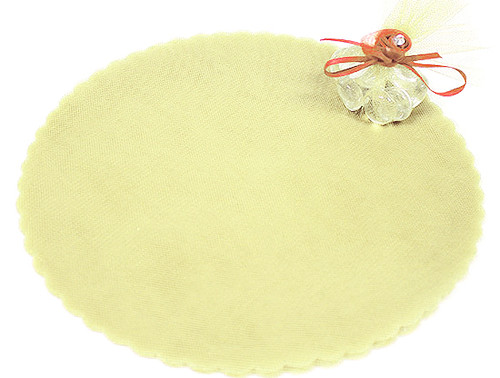 "9"" Diameter Ivory Wedding Tulle Circle - Pack of 600"