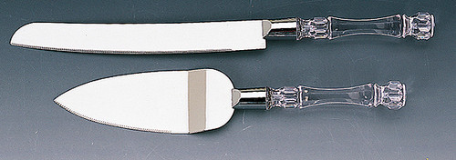 Wholesale Silver Wedding Cake Knife and Server Sets