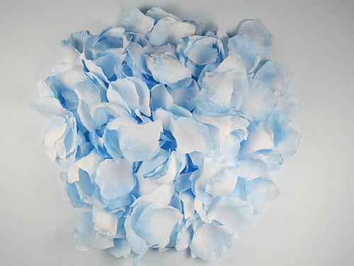 Light Blue Wedding Silk Rose Flower Petals - 12 Packs