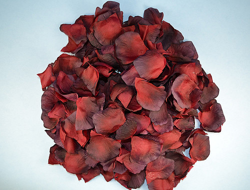 Burgundy wedding silk rose flower petals 12 packs cb for Cb flowers and crafts