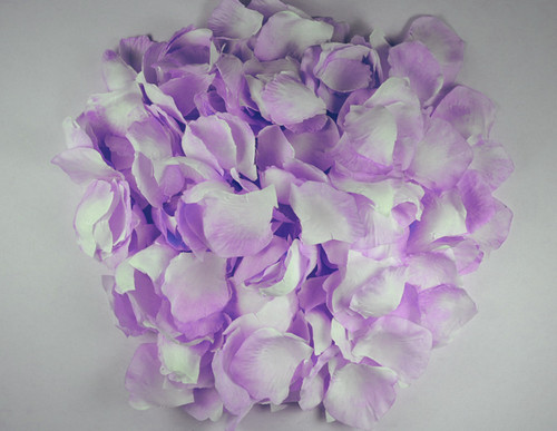 Lavender Wedding Silk Rose Flower Petals - 12 Packs