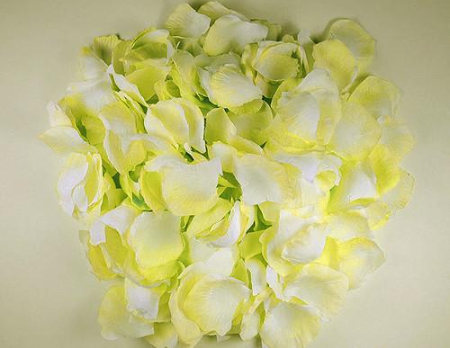 Light Yellow Wedding Silk Rose Flower Petals - 12 Packs