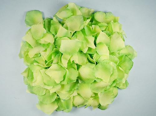 Mint Green Wedding Silk Rose Flower Petals - 12 Packs