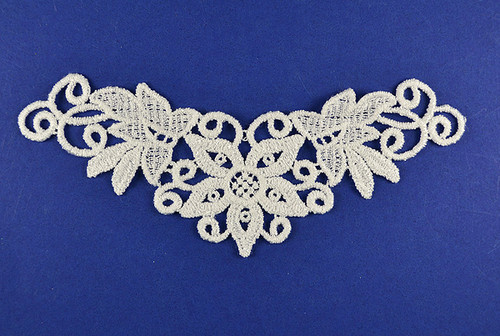 "2.5"" Wide x 6"" Long Venise Lace Applique - 50 Venice Lace Appliques"