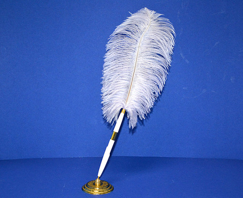Lavender Wedding Reception Pen Set Ostrich Feather Pen Set