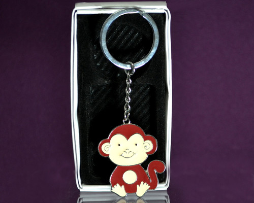 "4"" Metal Monkey Keychain - Pack of 12"