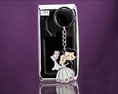Wedding Metal Keychain Favor