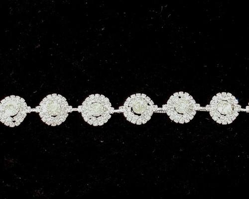 """5/8"""" Crystal Rhinestone Trim - 1 Yard Rhinestone Chain Trim"""