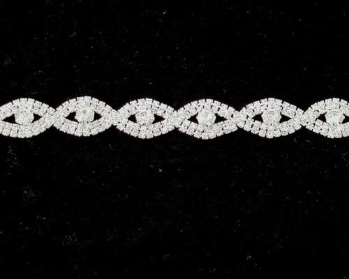 """1/2"""" Crystal Rhinestone Fashion Trim - 1 Yard Rhinestone Chain Trim"""
