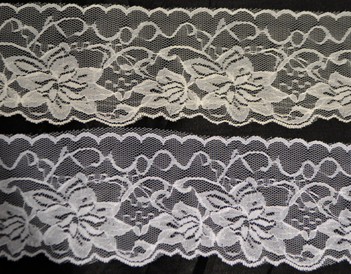 "3"" x 150 Yards Single Flat Lace Trim Roll"