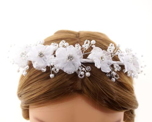 First Communion Flower Crown Headpiece  (CHP415)