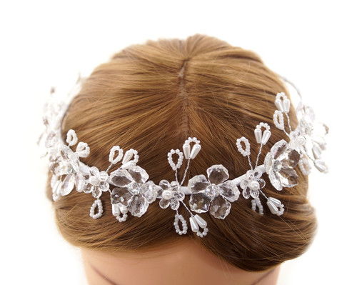First Communion Flower Crown Headpiece  (CHP425)
