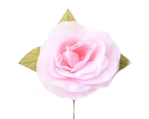 "5"" Pink Single Rose Silk Flowers - Pack of 12"
