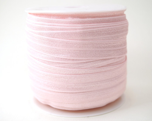 5/8 x 50 Yards Pink Fold Over Elastic Sewing Trim