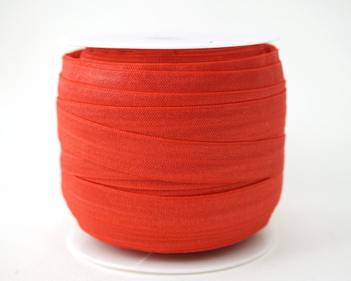 5/8 x 50 Yards Red Fold Over Elastic Sewing Trim