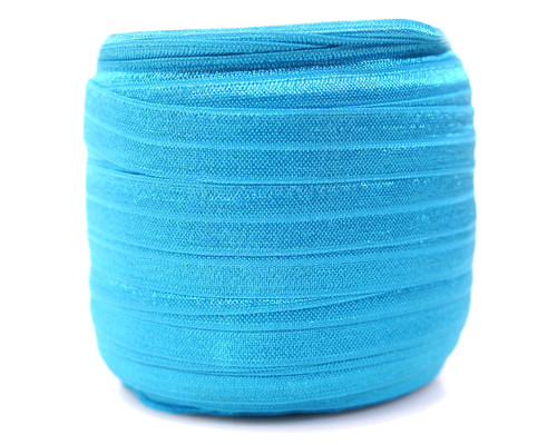 5/8 x 50 Yards Turquoise Fold Over Elastic Sewing Trim